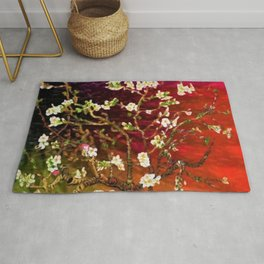 Vincent van Gogh Blossoming Almond Tree (Almond Blossoms) Multi-color Rug