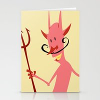 diablo Stationery Cards featuring Devil Diablo by Marco D Carrillo
