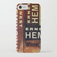 hemingway iPhone & iPod Cases featuring 3x Hemingway by Ryan W. Bradley