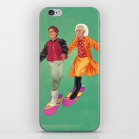 back to the future iPhone & iPod Skins featuring Back to the Future by Dave Collinson