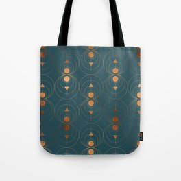 Copper Art Deco on Emerald Tote Bag
