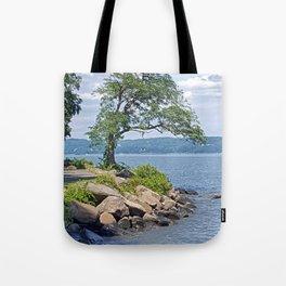Hudson River Walk Tote Bag