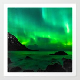 Northern Lights (Aurora Borealis) 5. Art Print