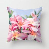 aloha Throw Pillows featuring Aloha by Sharon Mau