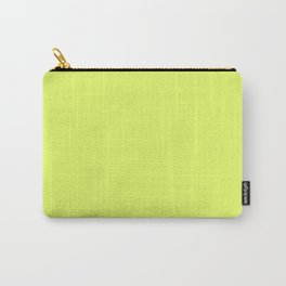 Light Yellow Daffodil Flower Solid Color Carry-All Pouch