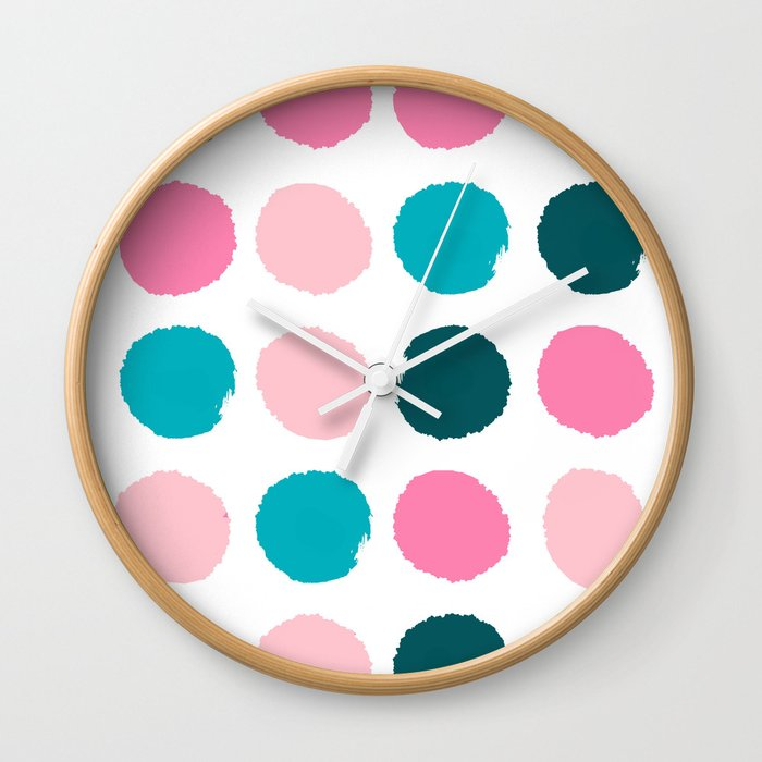 Hugo Abstract Modern Color Palette Gender Neutral Baby Nursery Dorm College Art Wall Clock