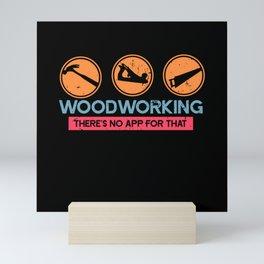 Carpenter Woodworking Mini Art Print