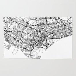 Singapore Map White Rug