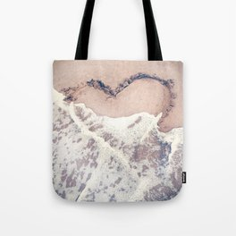 Heart in the sand Tote Bag