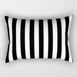 Black and White Stripes  Rectangular Pillow