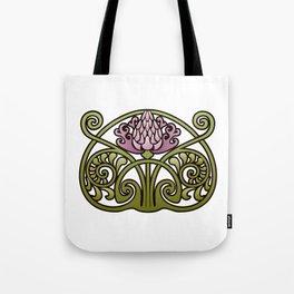 Nouveau Thistle Tote Bag