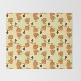 Peach pit Throw Blanket