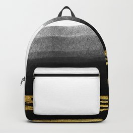 Black & Gold Stripes on White - Mix & Match with Simplicty of life Backpack