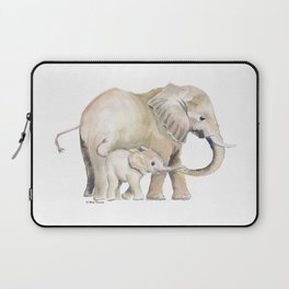 Mom and Baby Elephant 2 Laptop Sleeve