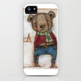 Cozy Bear Boy iPhone Case