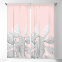 White Blush Cacti Vibes #1 #plant #decor #art #society6 Blackout Curtain