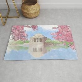 Cherry Blossom - Jefferson Memorial Rug