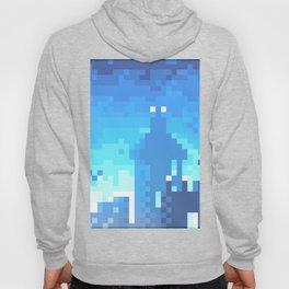 Pixel Town at Sundown - Blue Hoody