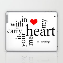 i carry your heart with me Laptop & iPad Skin