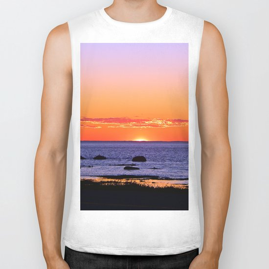 Stunning Seaside Sunset Biker Tank