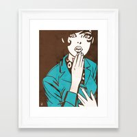60s Framed Art Prints featuring 60s Girl by Ed Pires