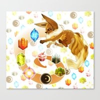 eevee Canvas Prints featuring Eevee by Katie O'Meara