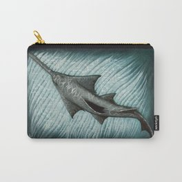 """Sawfish"" by Amber Marine ~ Acrylic Painting, (Copyright 2015) Carry-All Pouch"