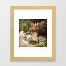 Wild Woman Canyon Framed Art Print