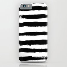 Black Stripe Pattern iPhone 6s Slim Case