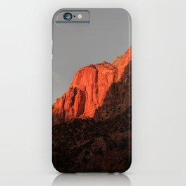 Towering Mountains | Clear Sky | Vertical Landscape Photography  iPhone Case