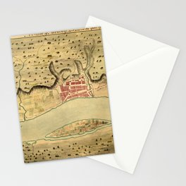 Map Of Albany 1758 Stationery Cards
