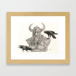 Huginn & Muninn Framed Art Print