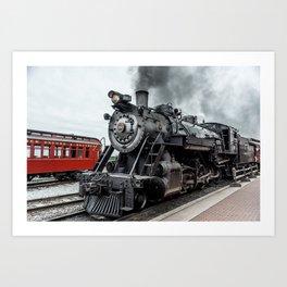 Strasburg Railroad Vintage Steam Locomotive Baldwin Train Engine Pennsylvania Art Print