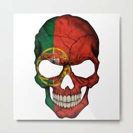 Exclusive Portugal skull design Metal Print