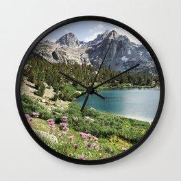 Sierra Alpine Wildflowers Wall Clock