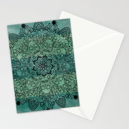 Skulls mandal Stationery Cards
