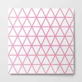 Light Pink Triangle Pattern 2 Metal Print