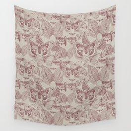 Moths Repeat Wall Tapestry