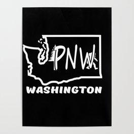 PNW WASHINGTON BIG FOOT Poster