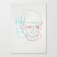 quibe Canvas Prints featuring Picasso by quibe