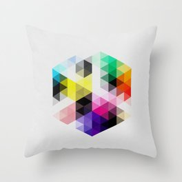Geo Hex 01. Throw Pillow