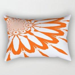 The Modern Flower White & Orange Rectangular Pillow
