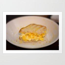 Egg salad with Oatmeal Toast Art Print