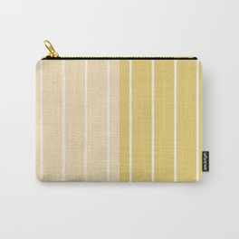 Two Tone Stripes - Yellow Carry-All Pouch
