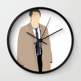 Castiel - Misha Collins - Supernatural - Minimalist design Wall Clock