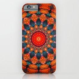 Tangerine Orange Mandala Design iPhone Case