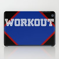 workout iPad Cases featuring WORKOUT by Gravityx9