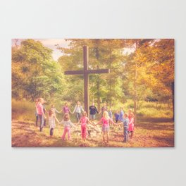 Gather At The Cross Canvas Print