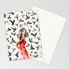 Barcelona Summer Bird Lady Stationery Cards
