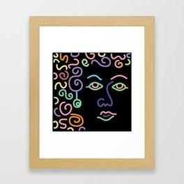 face eyes and hair Framed Art Print